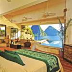 Карибы, Сент Люсия, и жемчужина этого земного рая — уникальный в своём роде отель Jade Mountain!